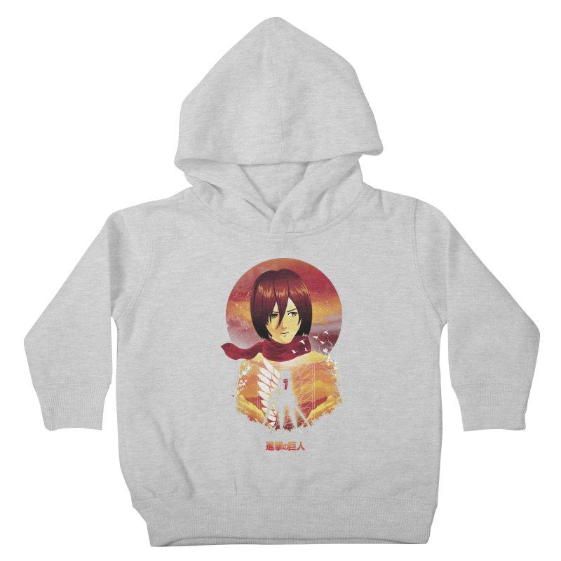 MIkasa Sunset Kids Toddler Pullover Hoody by dandingeroz's Artist Shop
