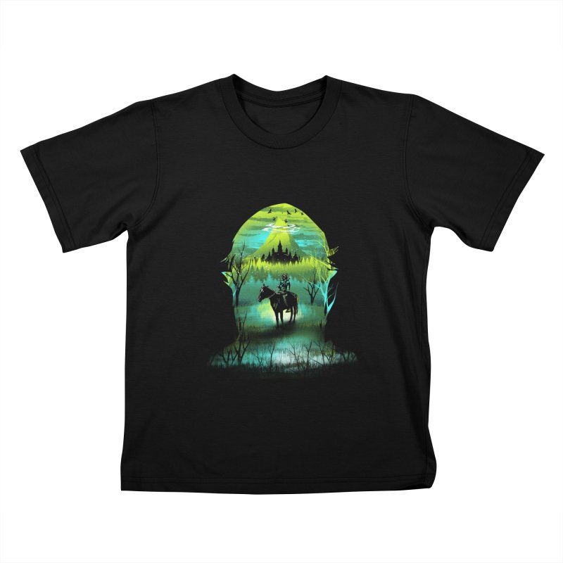 Hyrule at Night Kids T-shirt by dandingeroz's Artist Shop