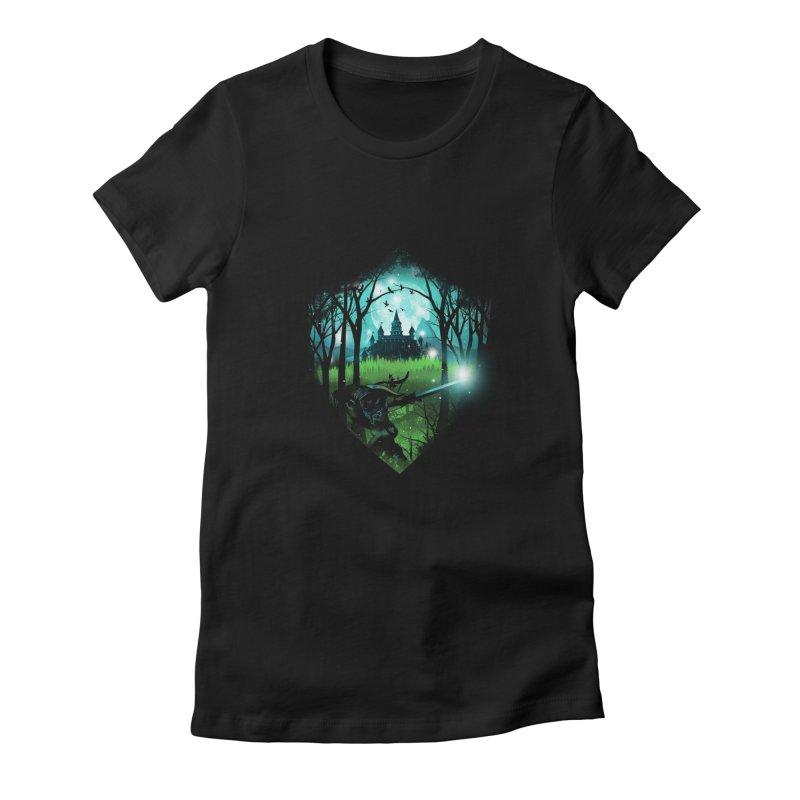 Wild Adventure Women's Fitted T-Shirt by dandingeroz's Artist Shop