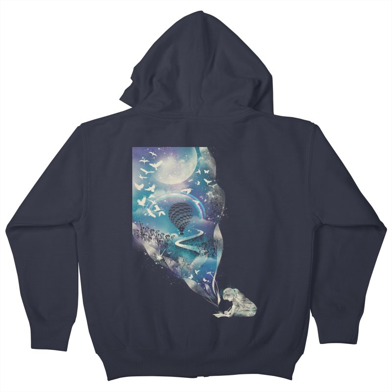 Dream big Kids Zip-Up Hoody by dandingeroz's Artist Shop