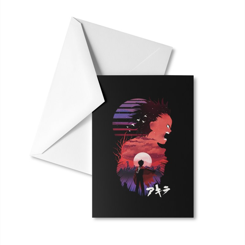 Tetsuo Sunset Accessories Greeting Card by dandingeroz's Artist Shop