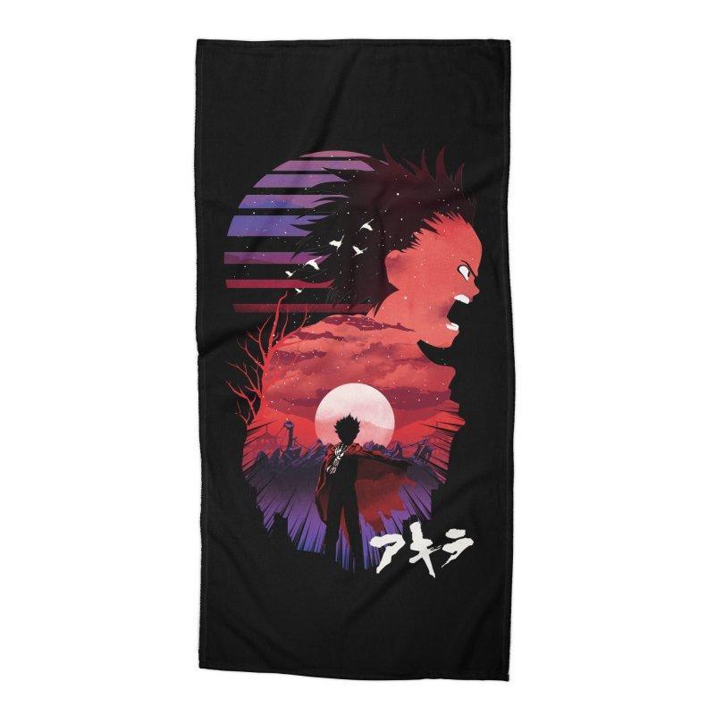 Tetsuo Sunset Accessories Beach Towel by dandingeroz's Artist Shop