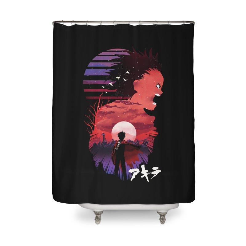 Tetsuo Sunset Home Shower Curtain by dandingeroz's Artist Shop