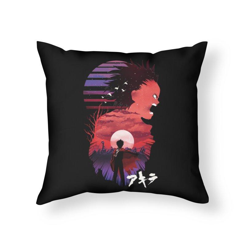 Tetsuo Sunset Home Throw Pillow by dandingeroz's Artist Shop