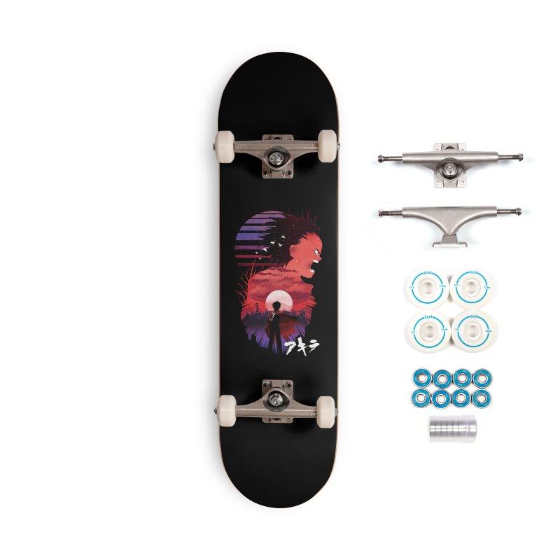 Tetsuo Sunset Accessories Skateboard by dandingeroz's Artist Shop