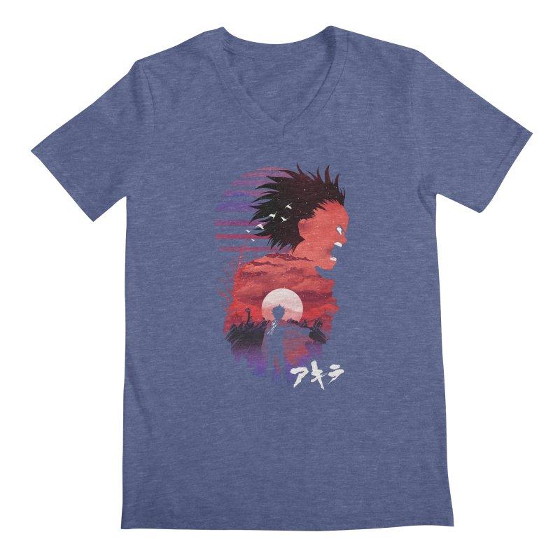 Tetsuo Sunset Men's V-Neck by dandingeroz's Artist Shop