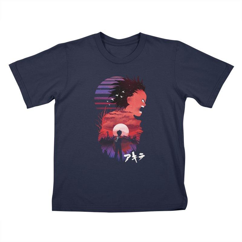 Tetsuo Sunset Kids T-Shirt by dandingeroz's Artist Shop