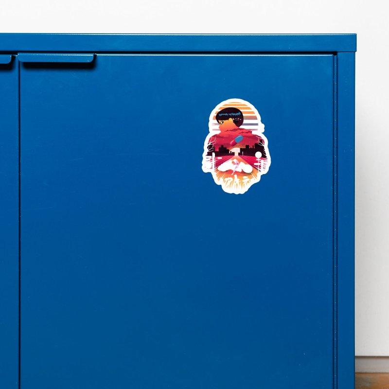 Kaneda Sunset Accessories Magnet by dandingeroz's Artist Shop