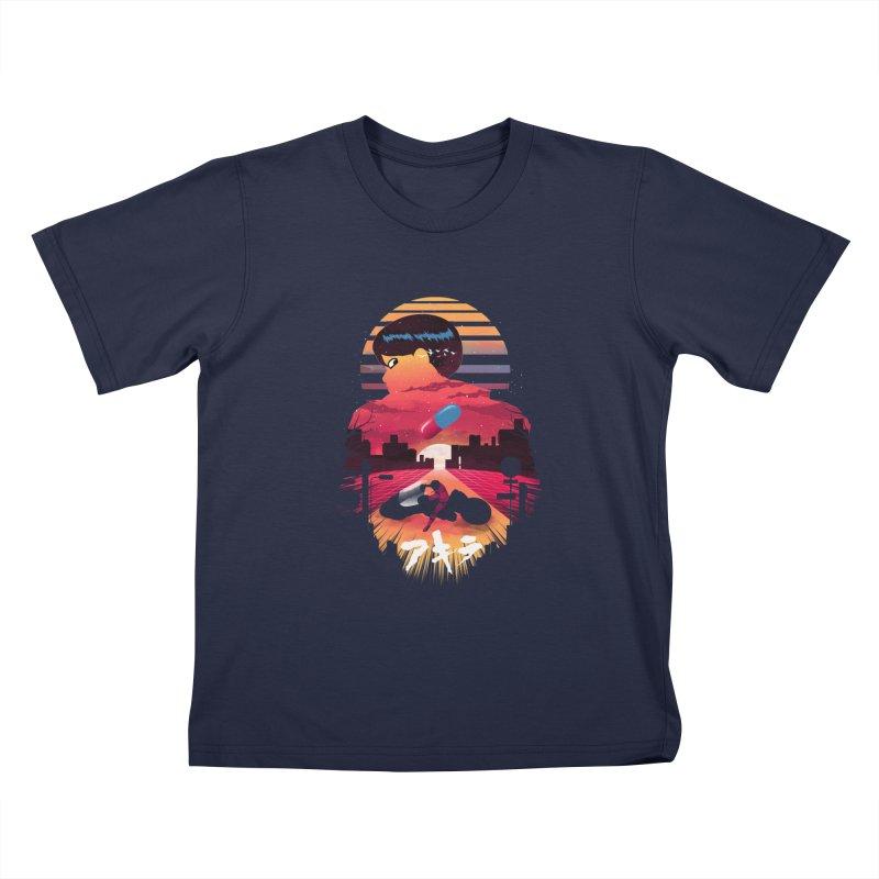 Kaneda Sunset Kids T-Shirt by dandingeroz's Artist Shop