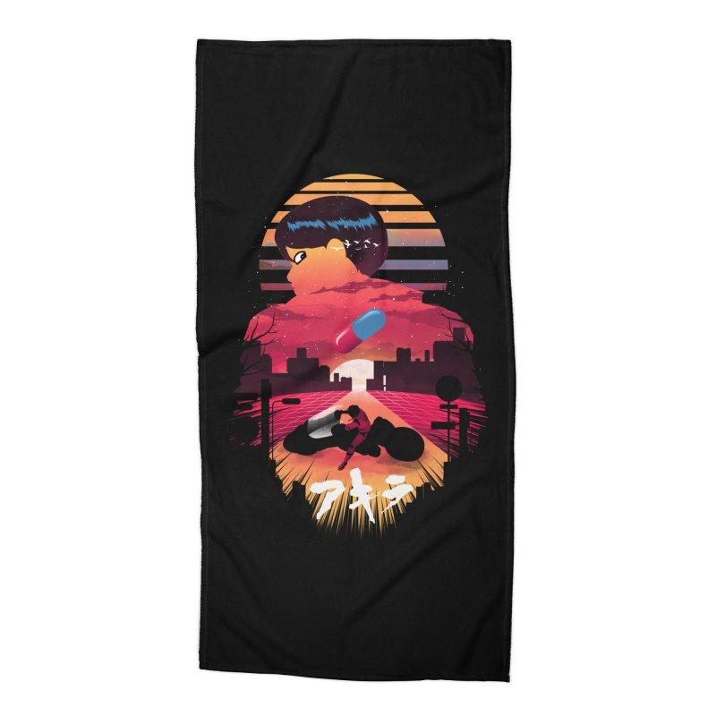 Kaneda Sunset Accessories Beach Towel by dandingeroz's Artist Shop