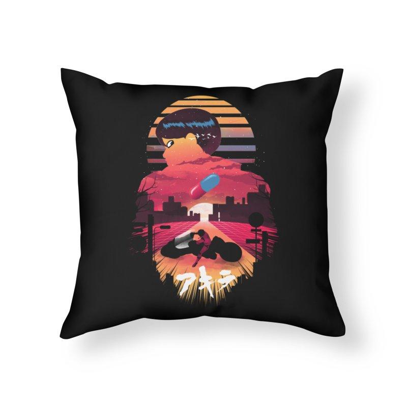 Kaneda Sunset Home Throw Pillow by dandingeroz's Artist Shop