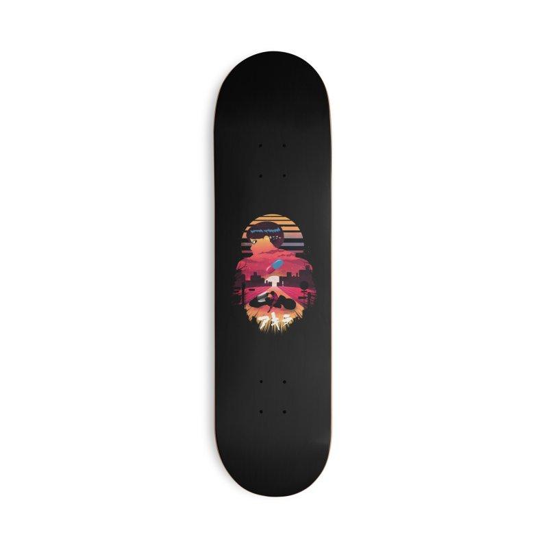 Kaneda Sunset Accessories Skateboard by dandingeroz's Artist Shop