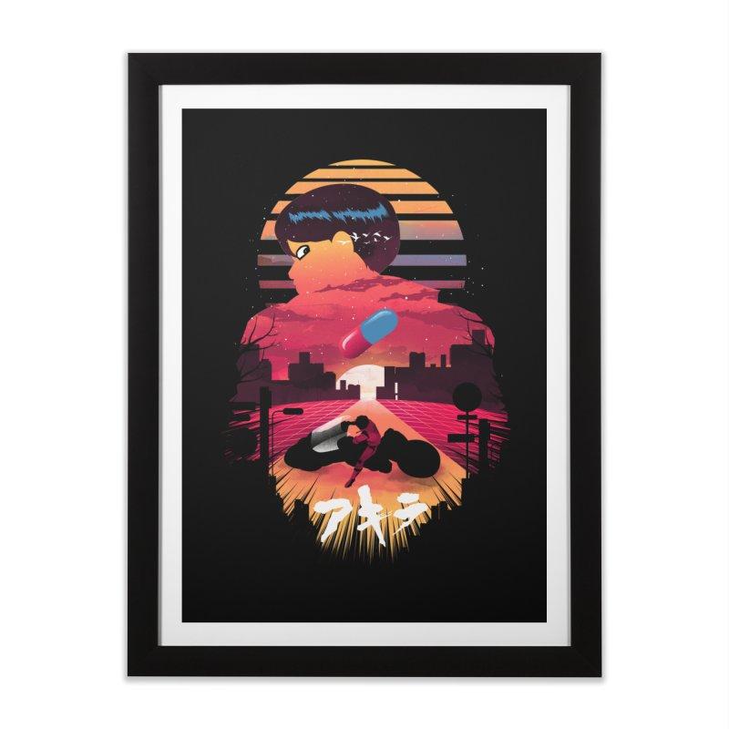Kaneda Sunset Home Framed Fine Art Print by dandingeroz's Artist Shop