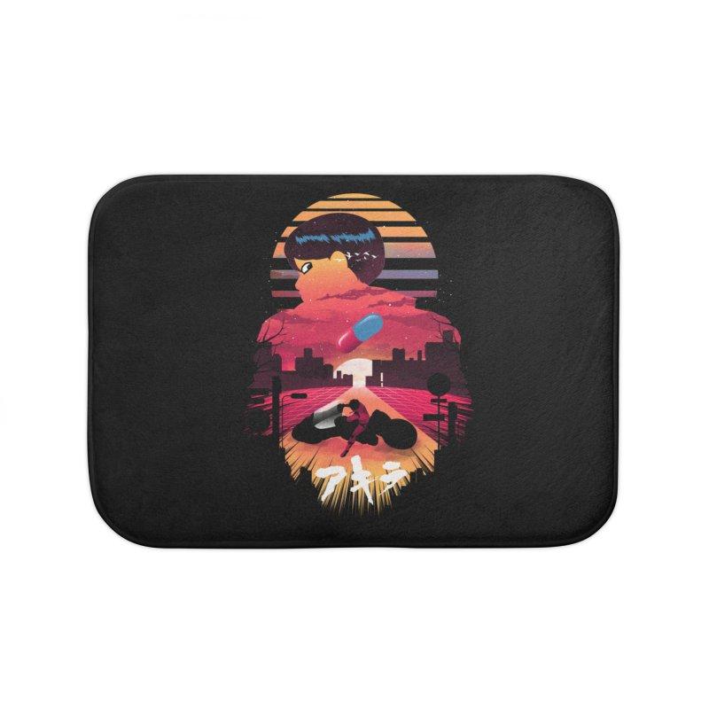 Kaneda Sunset Home Bath Mat by dandingeroz's Artist Shop