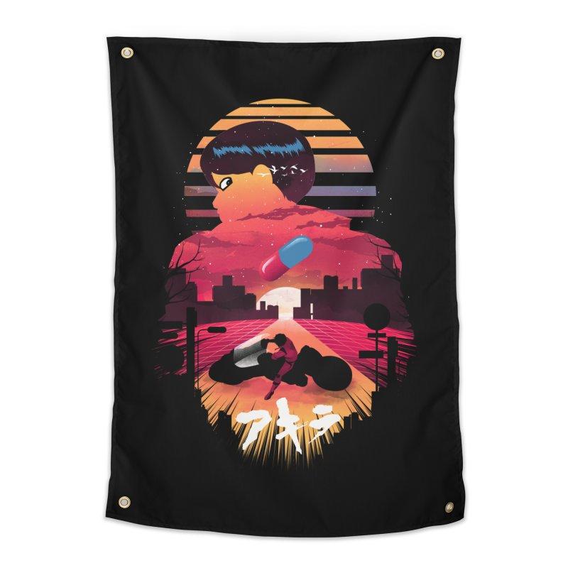Kaneda Sunset Home Tapestry by dandingeroz's Artist Shop