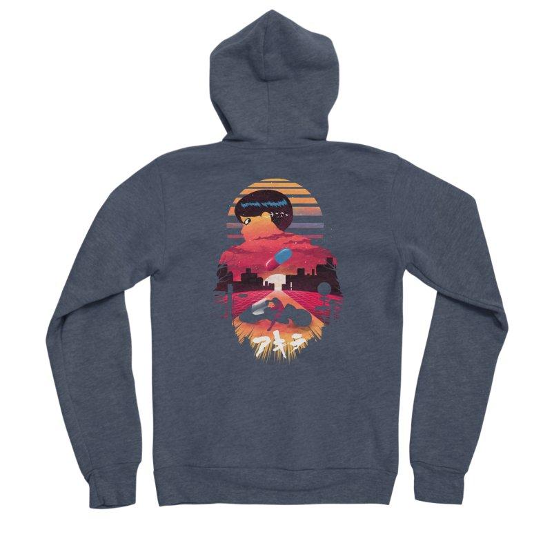 Kaneda Sunset Men's Zip-Up Hoody by dandingeroz's Artist Shop
