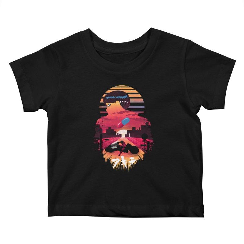 Kaneda Sunset Kids Baby T-Shirt by dandingeroz's Artist Shop