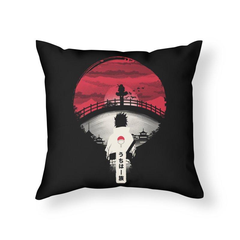 Uchiha Night Home Throw Pillow by dandingeroz's Artist Shop