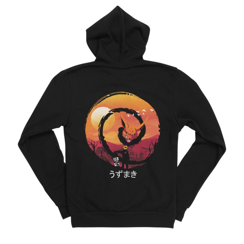 Uzumaki Night Men's Zip-Up Hoody by dandingeroz's Artist Shop