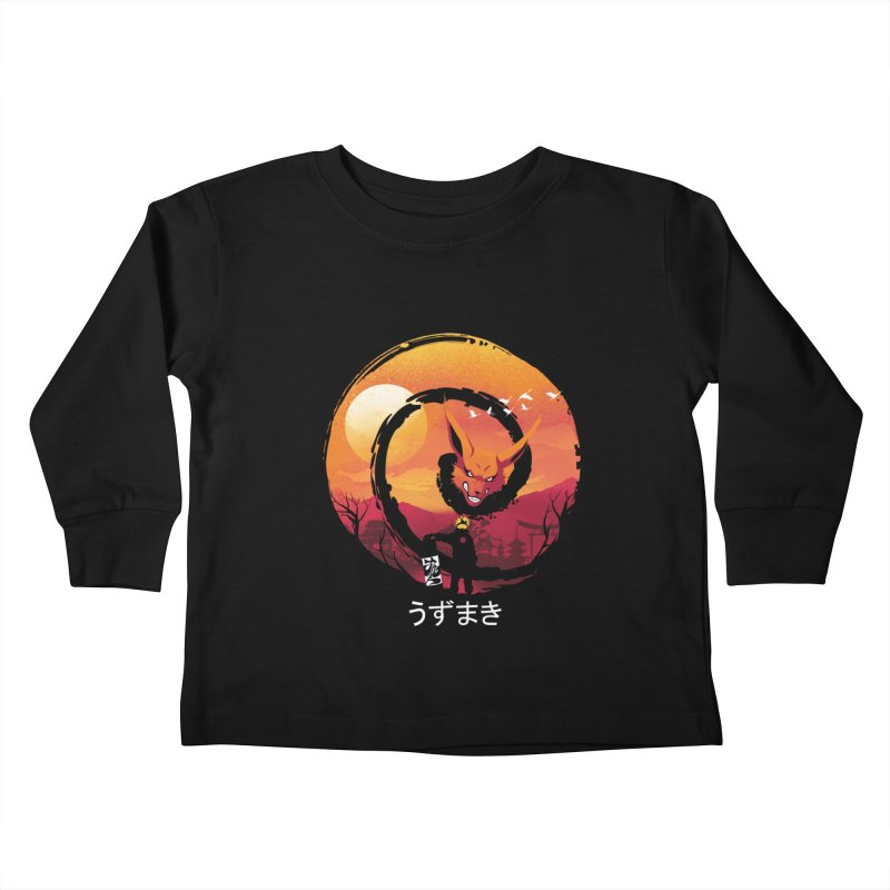 Uzumaki Night Kids Toddler Longsleeve T-Shirt by dandingeroz's Artist Shop