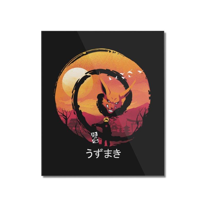 Uzumaki Night Home Mounted Acrylic Print by dandingeroz's Artist Shop