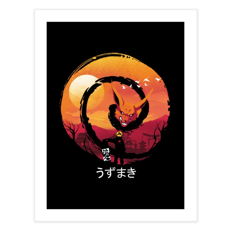 Uzumaki Night Home Fine Art Print by dandingeroz's Artist Shop