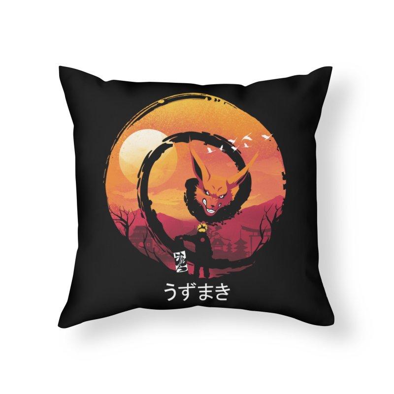 Uzumaki Night Home Throw Pillow by dandingeroz's Artist Shop