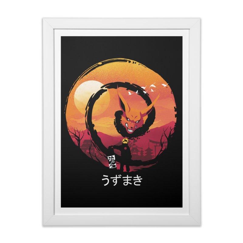 Uzumaki Night Home Framed Fine Art Print by dandingeroz's Artist Shop