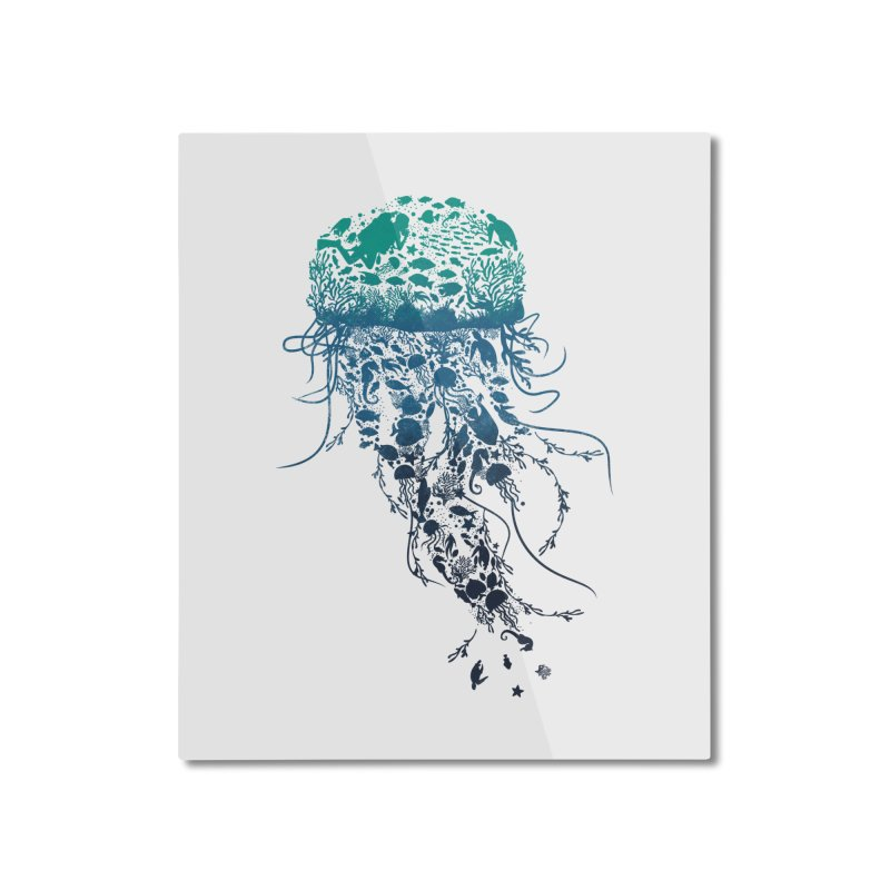 Protect the marine life Home Mounted Aluminum Print by dandingeroz's Artist Shop