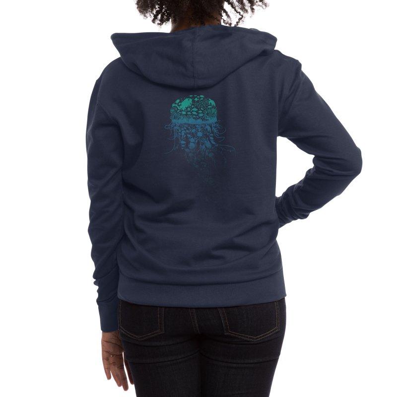 Protect the marine life Women's Zip-Up Hoody by dandingeroz's Artist Shop