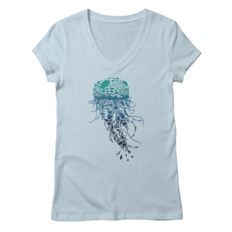 Protect the marine life Women's V-Neck by dandingeroz's Artist Shop