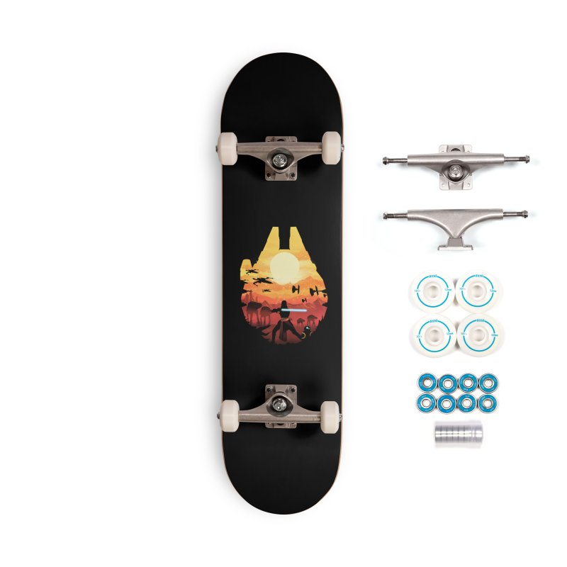 Jedi Sunset Accessories Skateboard by dandingeroz's Artist Shop