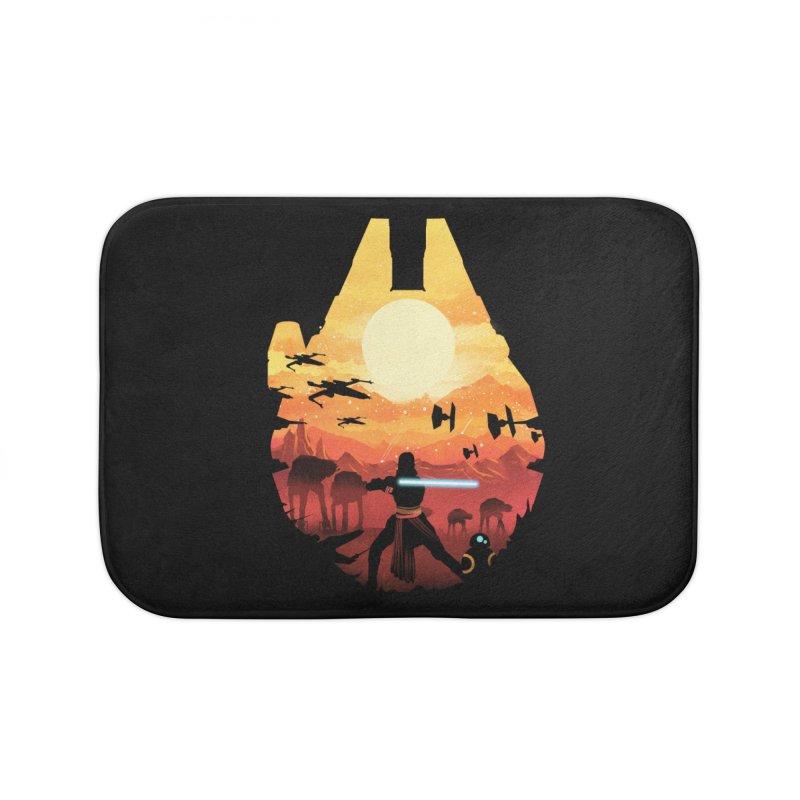 Jedi Sunset Home Bath Mat by dandingeroz's Artist Shop