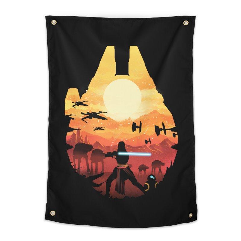 Jedi Sunset Home Tapestry by dandingeroz's Artist Shop