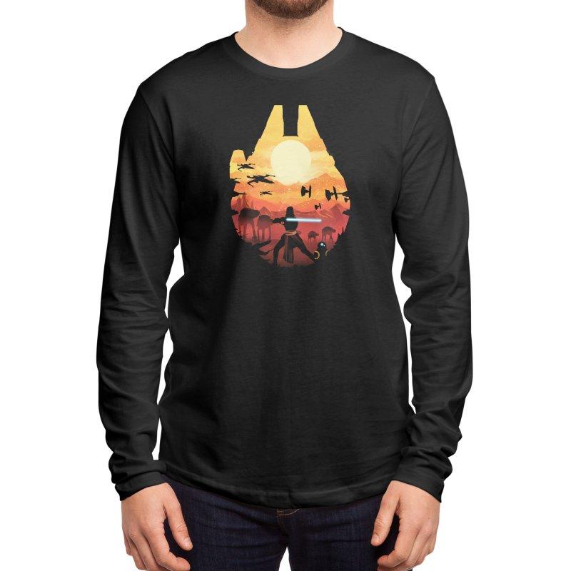 Jedi Sunset Men's Longsleeve T-Shirt by dandingeroz's Artist Shop