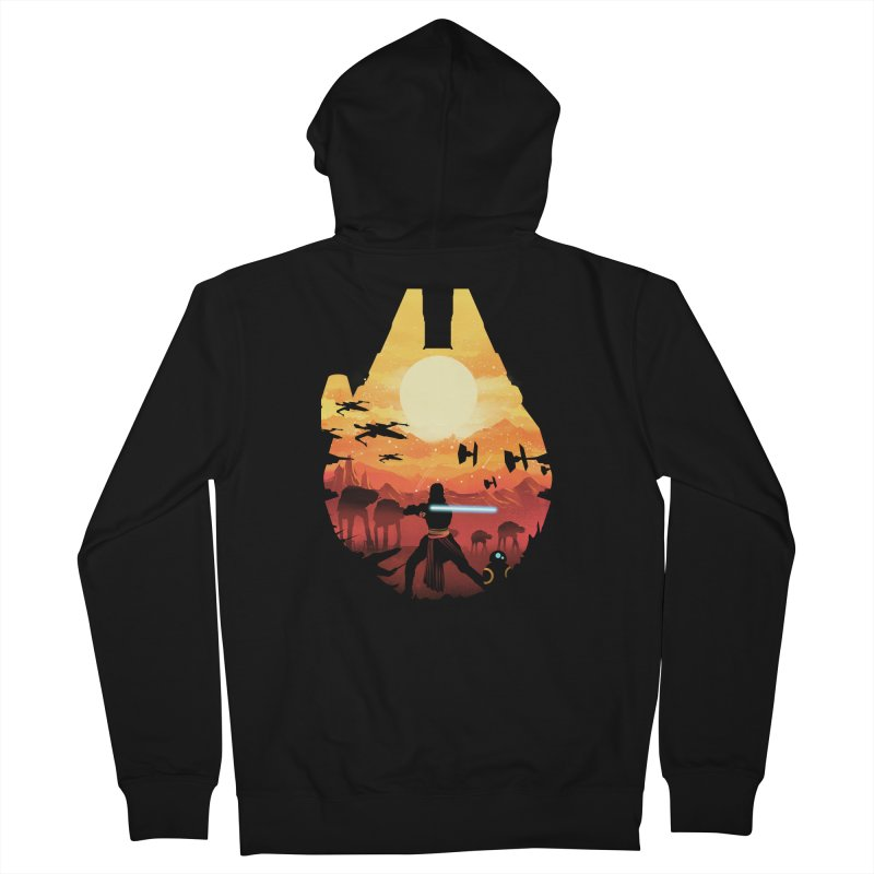Jedi Sunset Men's Zip-Up Hoody by dandingeroz's Artist Shop