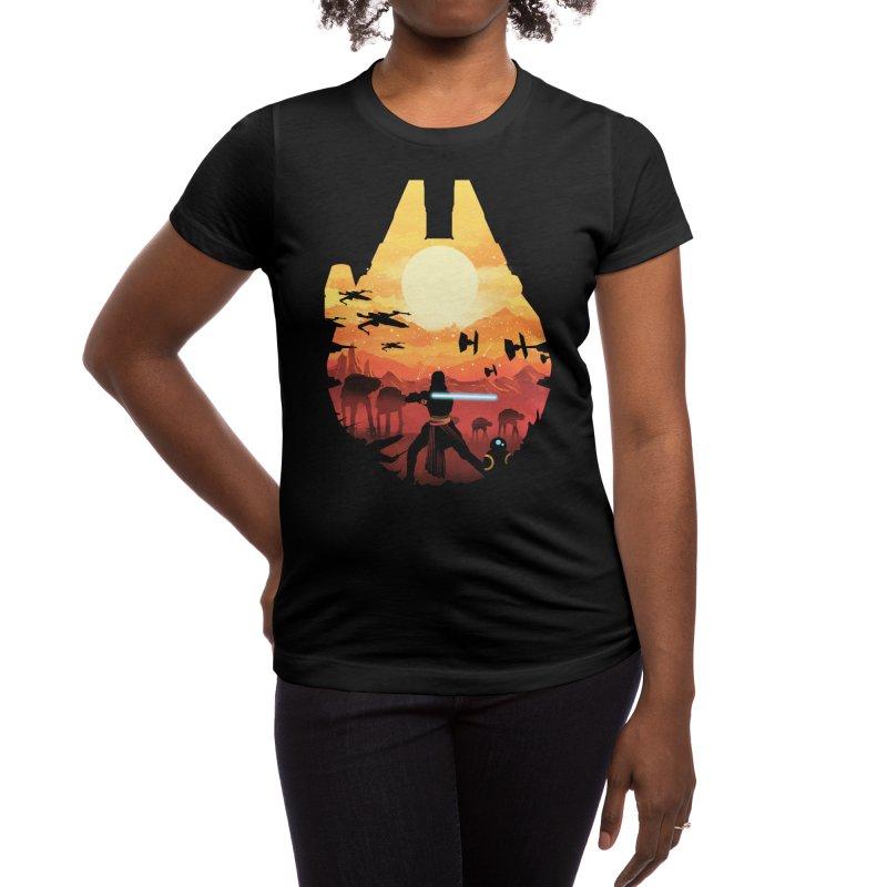 Jedi Sunset Women's T-Shirt by dandingeroz's Artist Shop