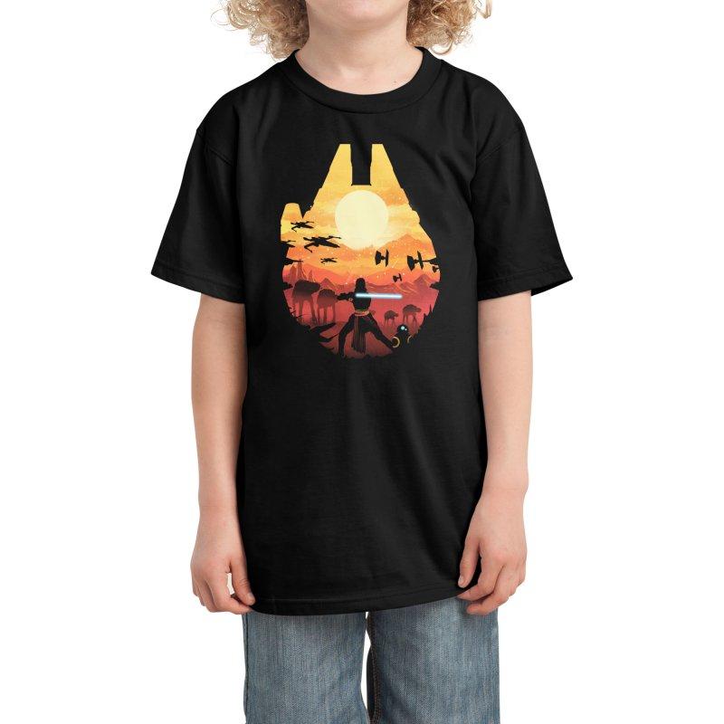 Jedi Sunset Kids T-Shirt by dandingeroz's Artist Shop
