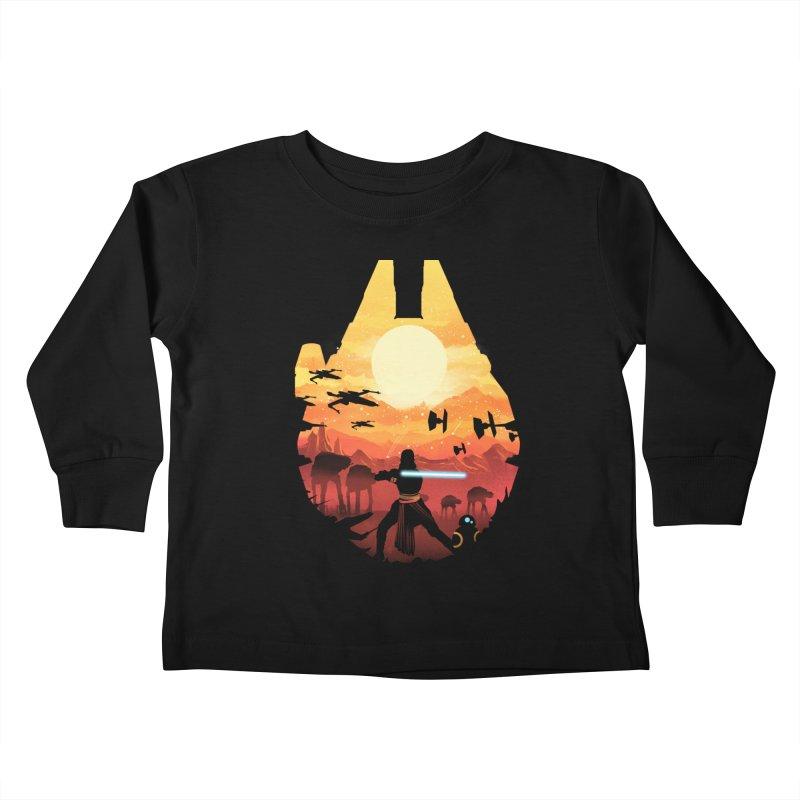 Jedi Sunset Kids Toddler Longsleeve T-Shirt by dandingeroz's Artist Shop
