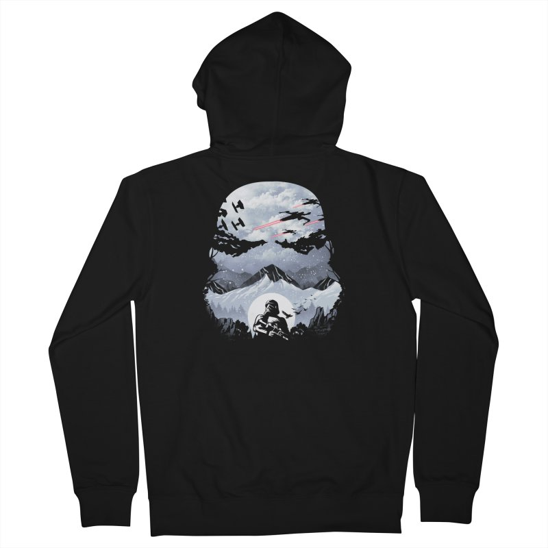 Storm Mountains Men's Zip-Up Hoody by dandingeroz's Artist Shop