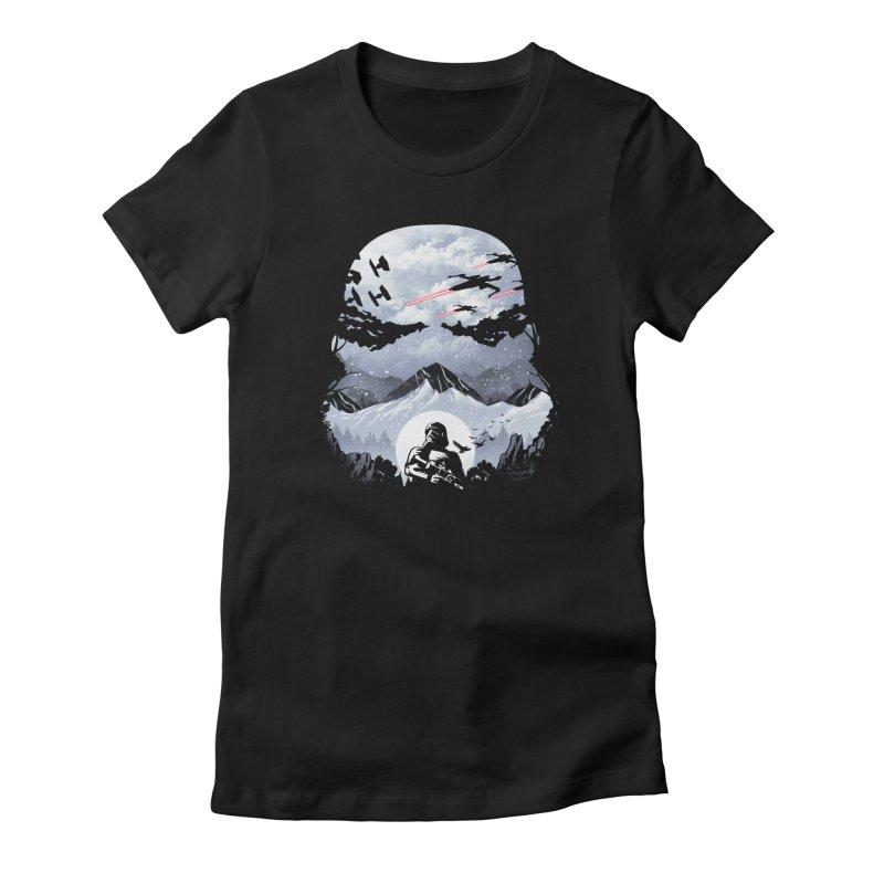 Storm Mountains Women's T-Shirt by dandingeroz's Artist Shop