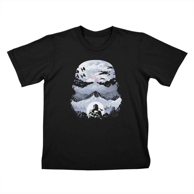 Storm Mountains Kids T-Shirt by dandingeroz's Artist Shop