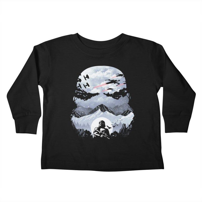 Storm Mountains Kids Toddler Longsleeve T-Shirt by dandingeroz's Artist Shop