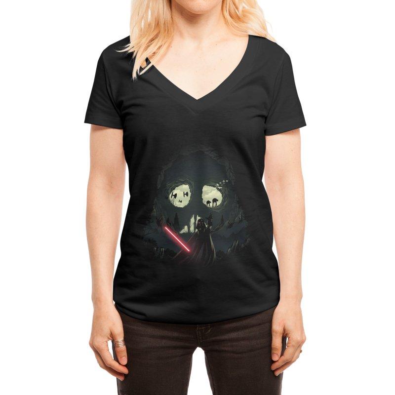 Dark Cave Women's V-Neck by dandingeroz's Artist Shop