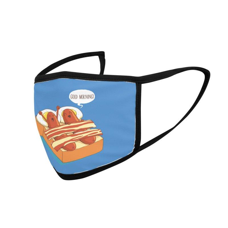 Breakfast on Bed Accessories Face Mask by dandingeroz's Artist Shop