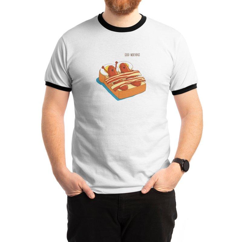 Breakfast on Bed Men's T-Shirt by dandingeroz's Artist Shop