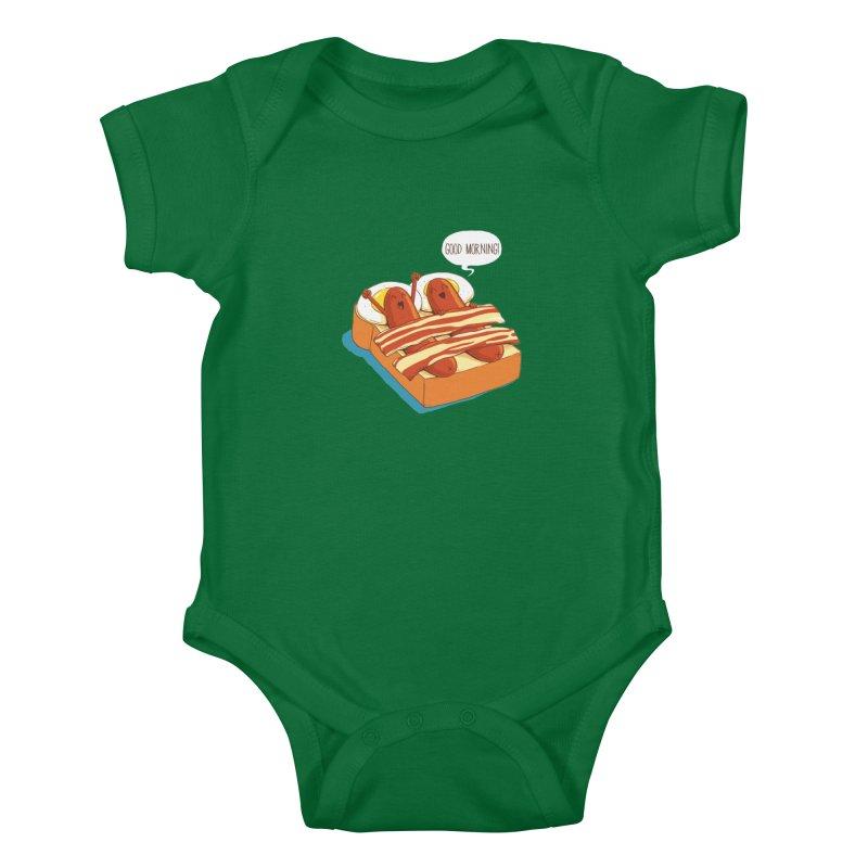 Breakfast on Bed Kids Baby Bodysuit by dandingeroz's Artist Shop