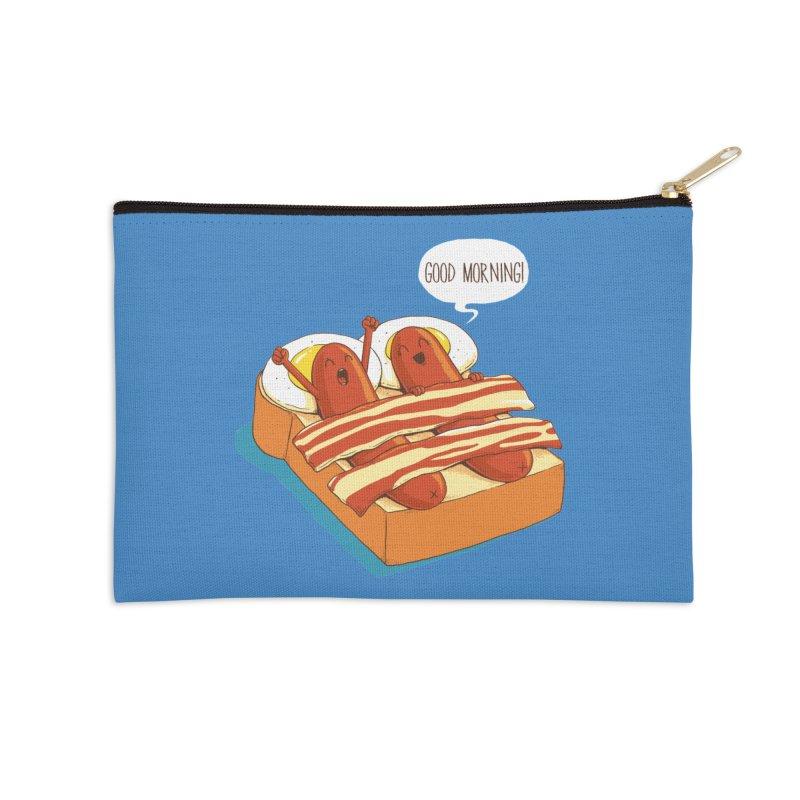 Breakfast on Bed Accessories Zip Pouch by dandingeroz's Artist Shop