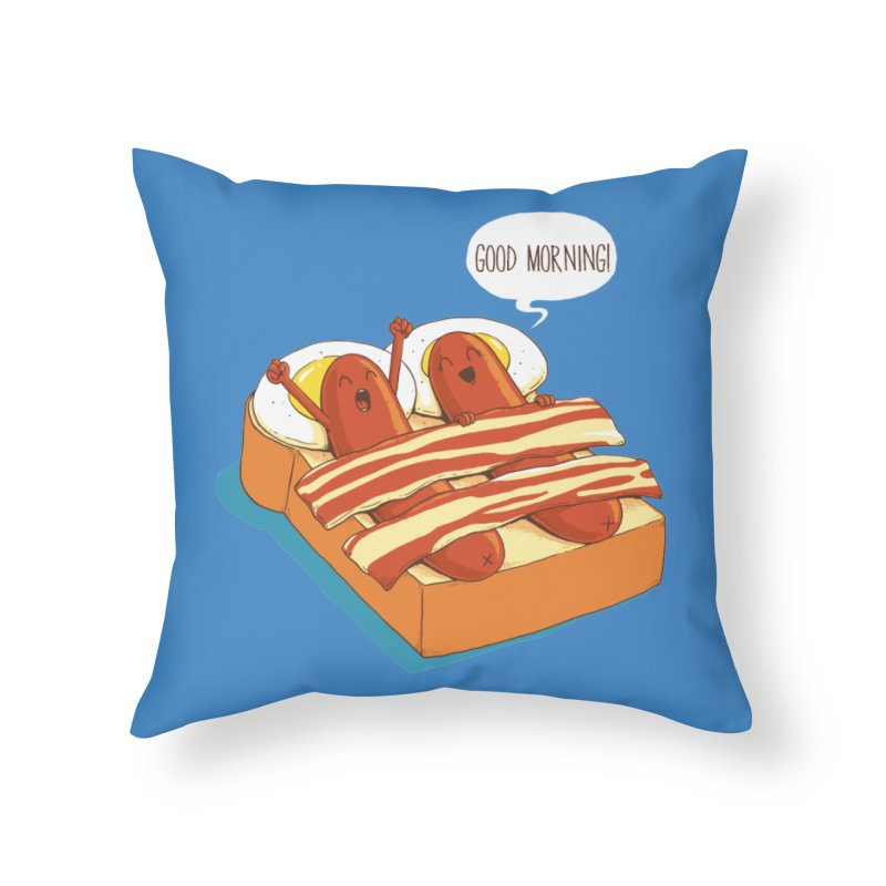 Breakfast on Bed Home Throw Pillow by dandingeroz's Artist Shop