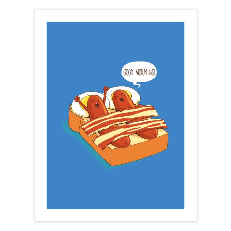 Breakfast on Bed Home Fine Art Print by dandingeroz's Artist Shop